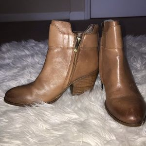 Light Brown Heeled Booties